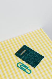 School accessories at abstract background