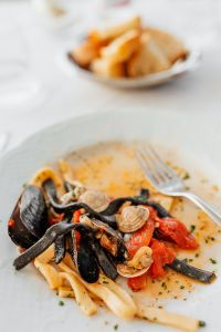 Kaboompics - Pasta with seafood and tomatoes
