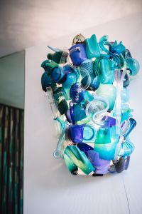 Venini glass factory and museum on the islands of Murano, Italy