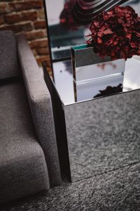 Kaboompics - Contemporary Mirrored Cube Coffee Table in