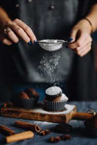 Kaboompics - Woman Sifting Powdered Sugar